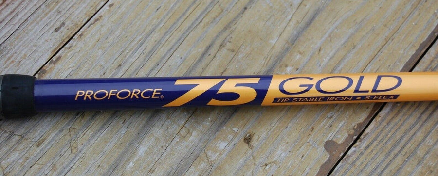 Golf ProForce 75 Gold Tip Stable Iron S-Flex Tour Cavity Forged Winn Grip 4