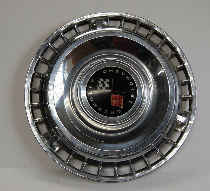 Chevy Chevrolet Vintage 1961 Impala Bel Air Biscayne Hubcap Wheel Cover