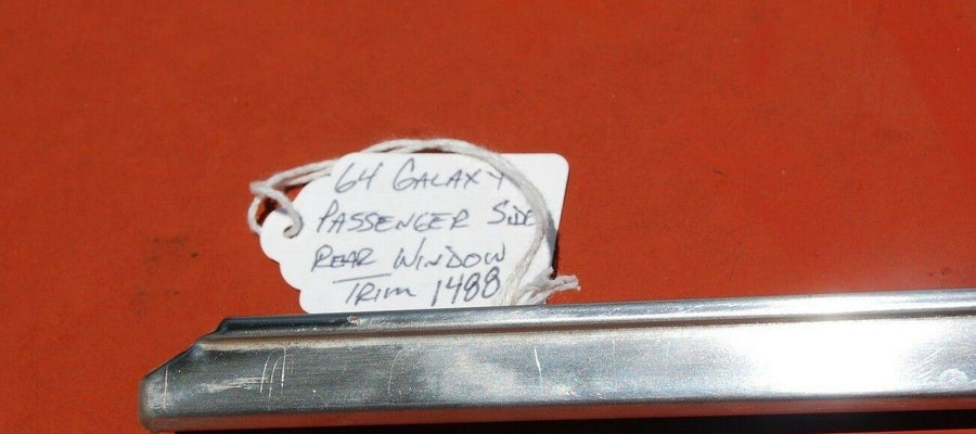 64 1964 Ford Galaxie 500 2 Door HT Rear Right Passenger Window Exterior Trim