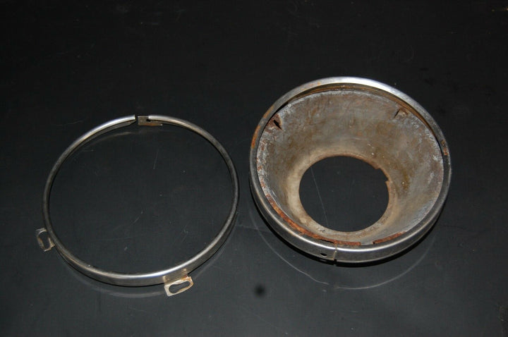 1964 64 FORD GALAXIE HEAD LIGHT LAMP BUCKET AND CHROME TRIM RING