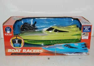 Boat Racer Battery Operated Dual Propeller RC Speedboat Racing action OPEN BOX
