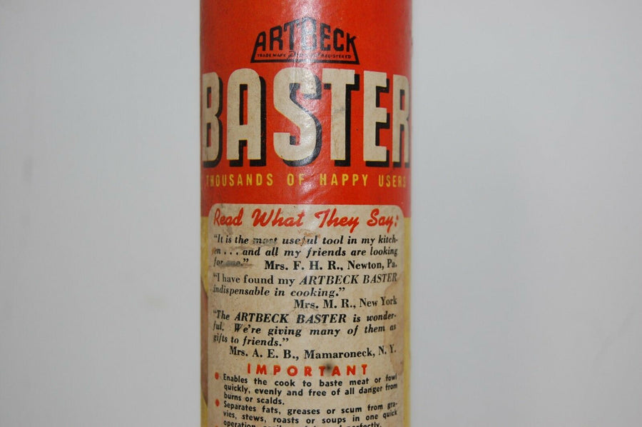 ArtBeck Baster Retro Original 1946 Advertising Art Box Vintage Kitchen Decor