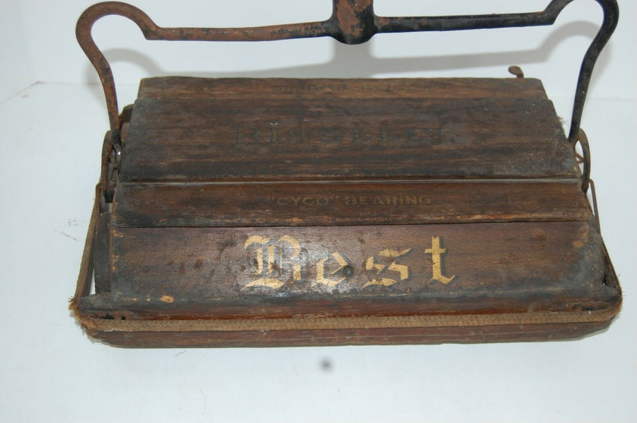 FANCY Bissell's Sweeper Wooden Vintage Floor Carpet Standard Mechanical ANTIQUE