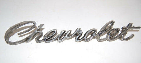 1967 IMPALA Chevrolet Script Emblem / BADGE OEM PART CAMARO 67 WITH PINS