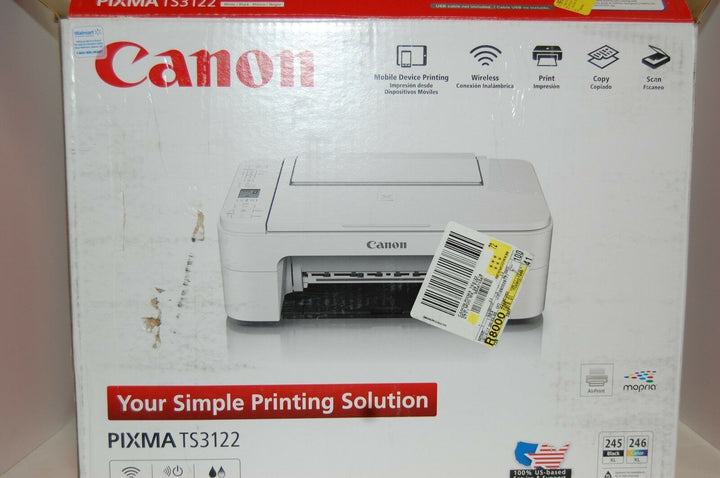 Canon Pixma TS3122 Wireless All-in-one Inkjet..New open Box NO INK