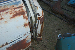 1956 PLYMOUTH SAVOY BELVEDERE  OEM LEFT FRONT DOOR WHOLE DOOR VINTAGE PARTS
