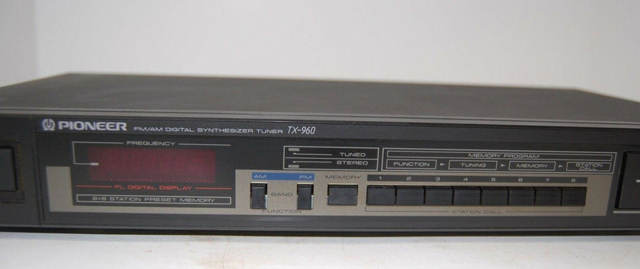 Pioneer Digital Synthesizer Tuner TX-960 WORKS VINTAGE STACKABLE