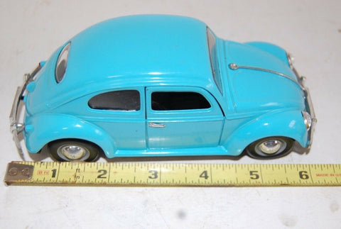 DieCast 1955 Volkswagen Beetle SCARCE COLOR LIGHT BLUE SS 7707 COLLECTORS CAR