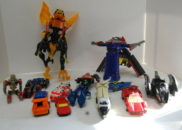 mixed lot transforming toys Transformers,Tank, Cars, Planes, Figures Vintage Toy