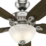 Hunter Model 52110 Heathrow 52 in. Brushed Nickle Ceiling Fan Quiet Powerful LED