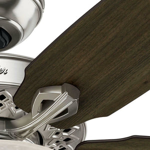 Hunter Lighting 52110 Heathrow 52 in. Brushed Nickel Ceiling Fan Quiet Powerful LED