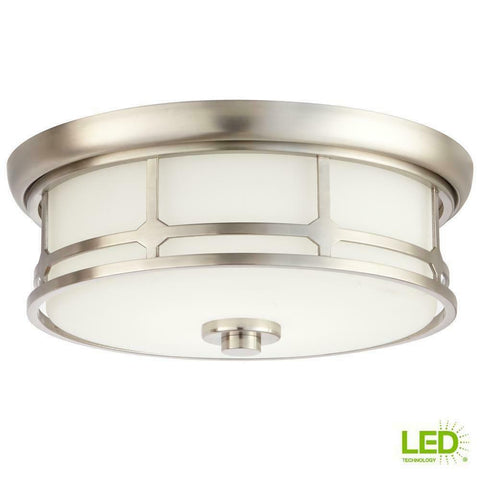 Home Decorators Portland Flush Mount LED 1001 814 048 No bulbs to replace ever!