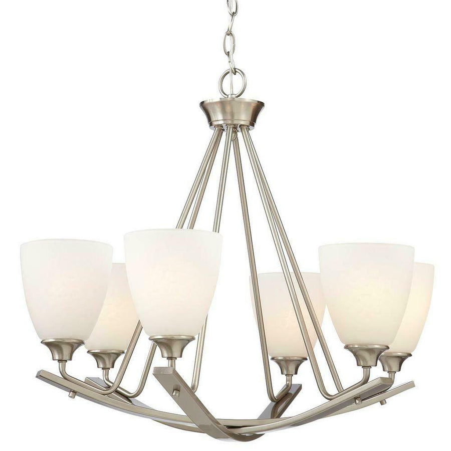HOME DECORATORS COLLECTION model #1001 375 532 Stansbury 6 light chandelier