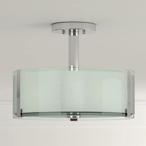 Home Decorators Collection  Semi-Flush Bourland 3-Lights Polished Chrome