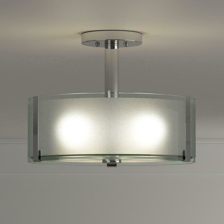 Home Decorators Collection Semi-Flush Chrome Ceiling Lighting