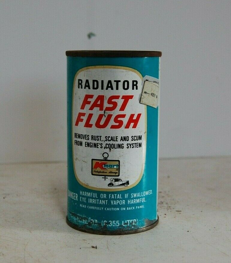 Vintage Radiator Fast Flush Can 12 floz K-Mart logo Pop Top un-opened Tin