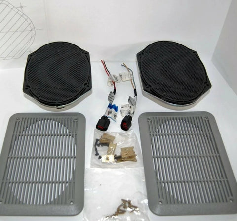 "NEW Pair Ford 5.5"" x 8"" OEM Speakers 7U5T-18808-BA Speaker Kit with Harness"