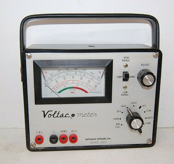 Vintage Voltac Meter,  Advances Schools INC. * Ham Radio Equipment