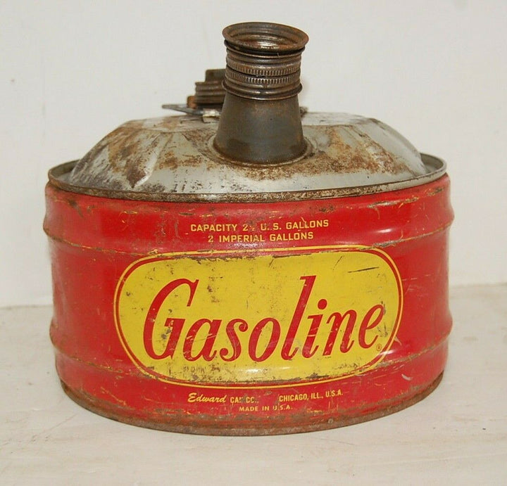 Vintage Gas Can Gasoline Edward can co. Chicago, ILL Retro art station display