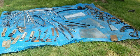 1968 69 70 MOPAR B-BODY PARTS LARGE LOT TRIM WINDOW GLASS LINKAGE VINTAGE PARTS