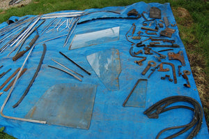 1968 1970 MOPAR B-BODY PARTS LARGE LOT TRIM WINDOW GLASS LINKAGE VINTAGE PARTS