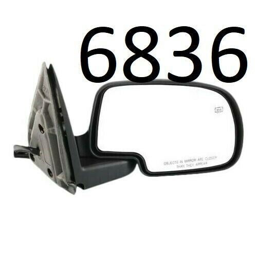 Power Mirror For 2003-2006 Chevrolet Silverado 1500 Right Manual Fold Paintable