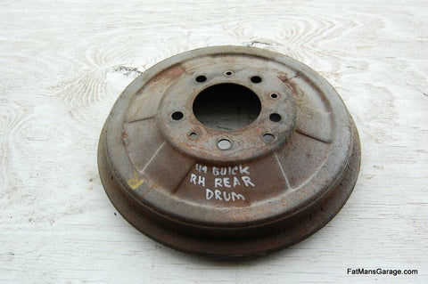 1949 49 Buick Super 50 & 70 Series Roadmaster Right Rear Brake Drum