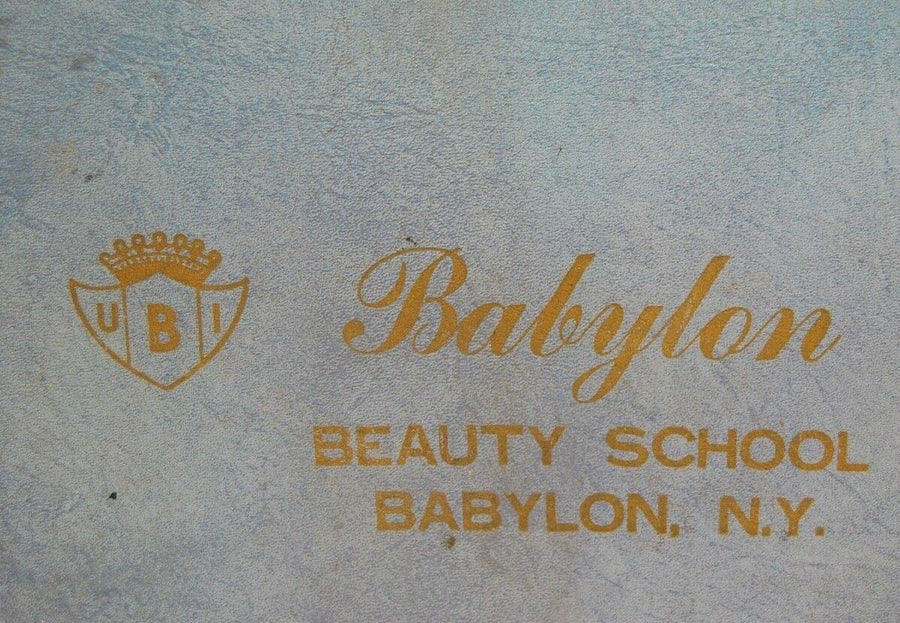 Vintage Babylon New York Babylon Beauty School Makeup Hair Styling Suit Case