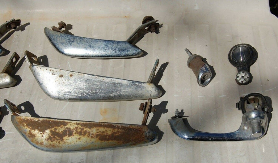 6 Vintage Unknown Chrome Bumper Guards & Random Parts Ford Chevy Mopar