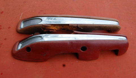 1963 63 1964 64 Ford Galaxie 500 Front RH LH Driver Passenger Pair Red Arm Rests