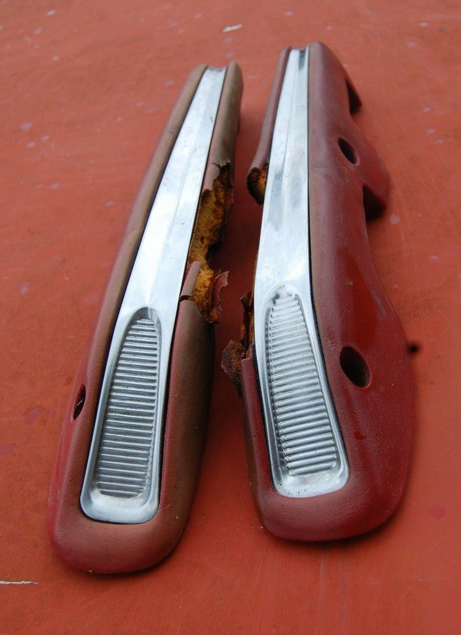 1963 1964 Ford Galaxie 500 Front RH LH Red Arm Rest Pair