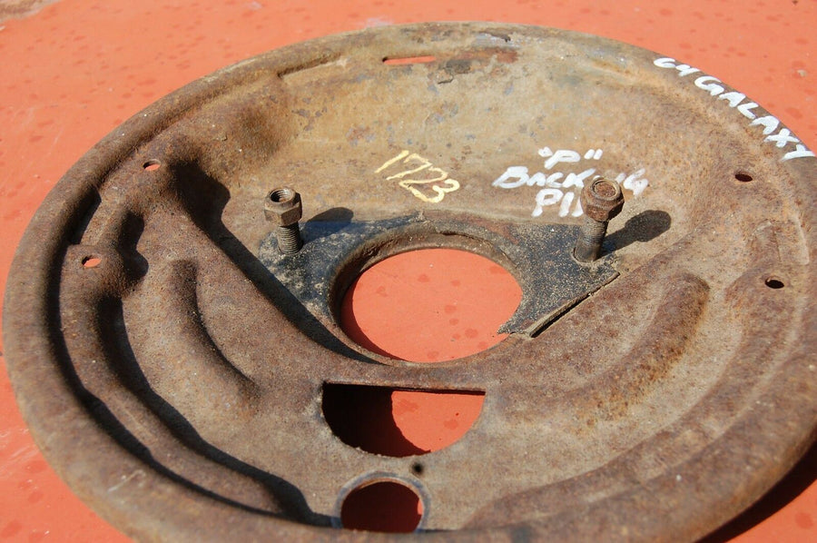 1963 1964 FORD GALAXIE RIGHT FRONT BRAKE DRUM BACKING PLATE 2 1/2""