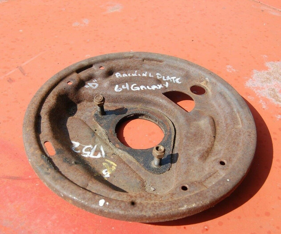 1963 1964 FORD GALAXIE LH FRONT DRUM BRAKE BACKING PLATE DRIVER SIDE