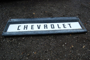 1959 Chevy tailgate Original steel Chevrolet SCRIPT Pickup Truck Retro Art