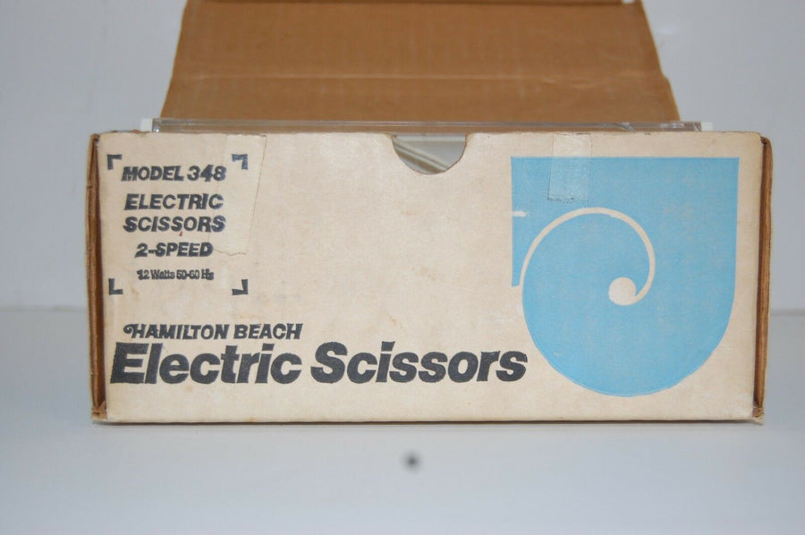 Vintage Hamilton Beach 2 speed Electric Scissors Model 348 In Box! Retro kitchen
