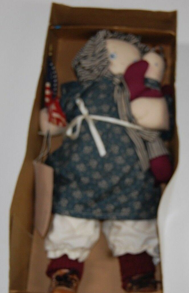 RARE Betsy Ross Plush Doll Vintage Bicentennial Large NWT handmade Collectible