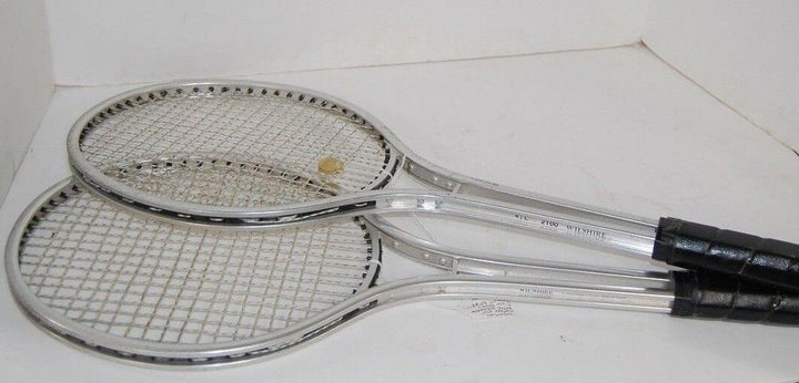 2 WELSHIRE Metal tennis rackets 2100 Vintage retro rackets SPORTS collection