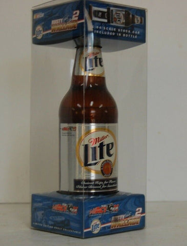 1995 Rusty Wallace #2 Miller Genuine Draft Thunderbird 1:64 Car in Bottle Action