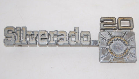 1975-80 OEM CHEVY SIVERADO 20 FENDER EMBLEM #349695 CHEVROLET BADGE 2 PINS