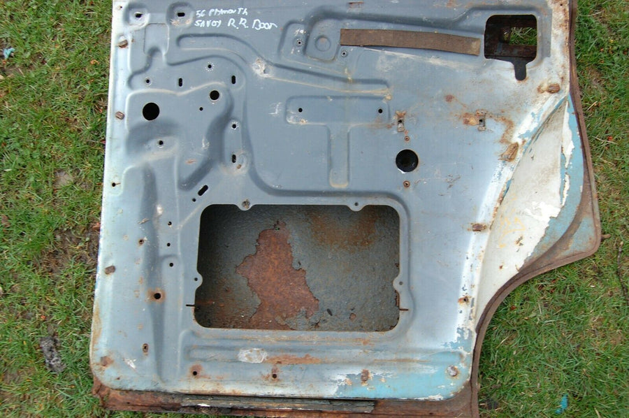 1956 PLYMOUTH SAVOY BELVEDERE RIGHT BACK DOOR OUTER SHELL