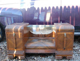 Vintage VANITY WITH MIRROR ANTIQUE FURNITURE SOLID WOOD PROJECT PIECE DECORATIVE