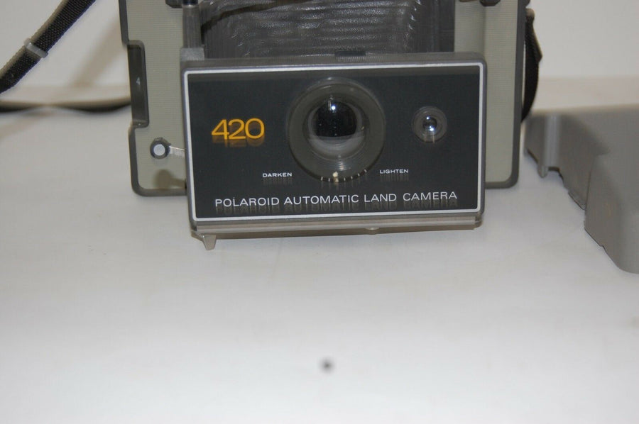 Vintage Polaroid 420 Land Camera w. Original Manual and Focused Flash