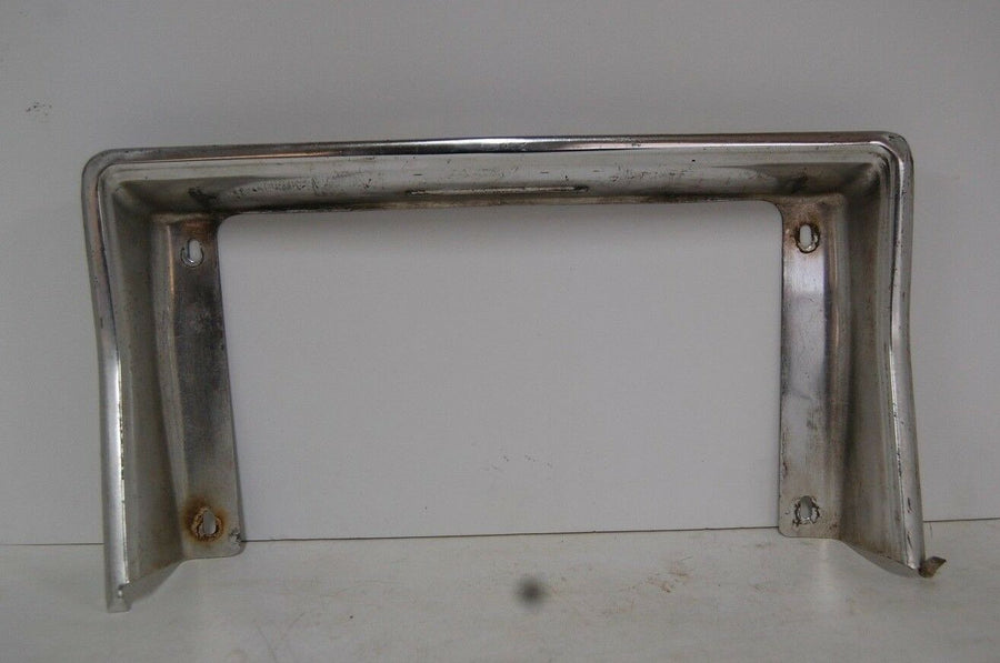 1979 Impala Rear License Plate Pocket Bracket Trim Molding Aluminum GM