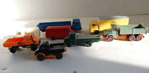 Model Car Truck lot of 8 HO Wiking Germany Mercedes MAGIRUS DEUTZ collection