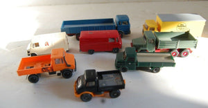 Model Car Truck lot 8 HO Wiking Germany Mercedes MAGIRUS DEUTZ collection toys