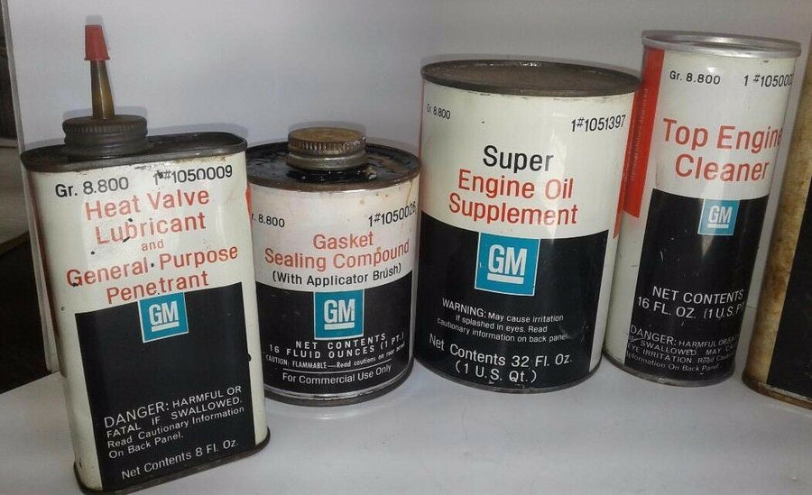 GM Vintage Engine Car Performance Collectible LOT of 10 Factory Cans Full