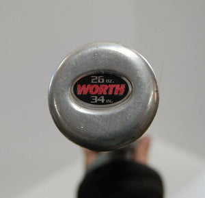 "Worth INSANITY Slowpitch Official Softball Bat 34/28 SBWR 2 1/4"" DIA ALLOY toys"