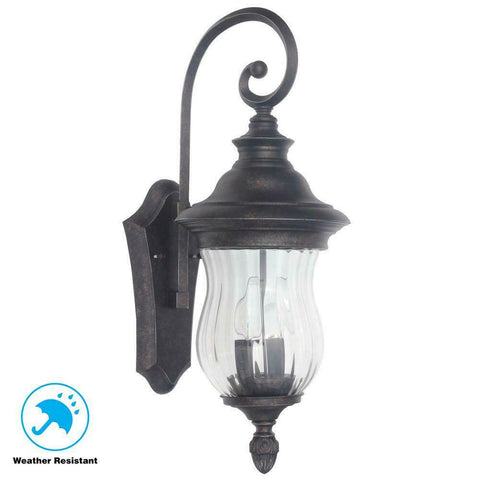 "Home Decorators Collection large 22"" Exterior Wall Lantern Wesleigh 1001 563 926"