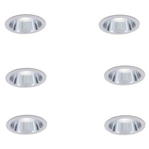 Commercial Electric Lighting 6 in. R30 Clear Recessed Reflector Trim 6-Pack