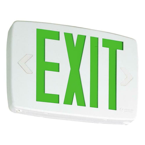 LITHONIA LIGHTING LED Exit Lighting W/ Green letters